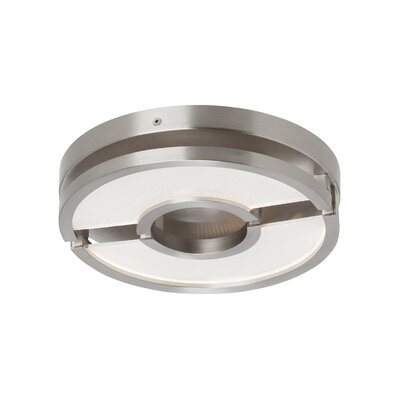 Stover 1-Light Flush Mount Finish: Satin Nickel, Voltage: 120V
