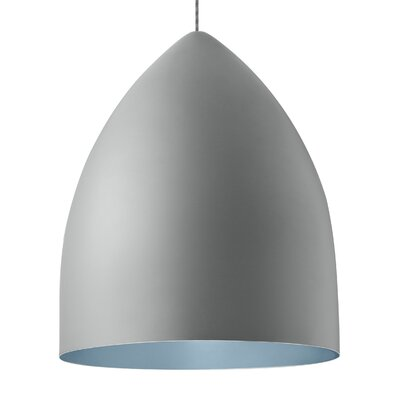 Signal Grande 1-Light Mini Pendant Bulb Type: LED 120V, Shade Color: Rubberized Gray/Blue