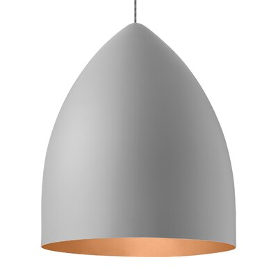 Signal Grande 1-Light Mini Pendant Shade Color: Rubberized Gray/Copper, Bulb Type: LED 120V
