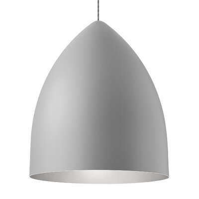 Signal Grande 1-Light Mini Pendant Bulb Type: LED 120V, Shade Color: Rubberized Gray/Platinum