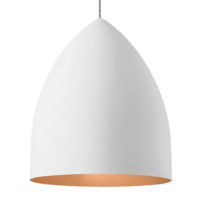 Cybulski 1-Light Mini Pendant Shade Color: Rubberized White/Copper, Bulb Type: Compact�Fluorescent 277V