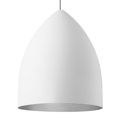 Signal Grande 1-Light Mini Pendant Shade Color: Rubberized White/Platinum, Bulb Type: Compact�Fluorescent 120V
