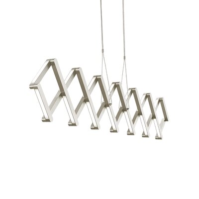 Xterna Linear 1-Light Mini Pendant Finish: Satin Nickel, Bulb Type: LED 120V