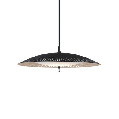 Spindrift 1-Light Mini Pendant Finish: Rubberized�Black/Gold�Mist, Bulb Type: LED 277V