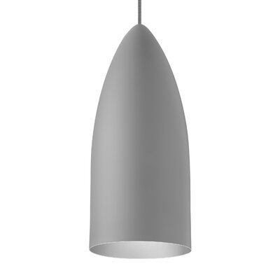 Signal 1-Light Mini Pendant Shade Color: Rubberized Gray/Platinum, Bulb Type: LED 120V