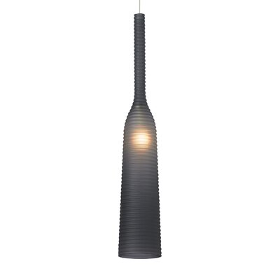 Maclennan 1-Light Mono Point Mini Pendant Finish: Bronze, Shade Color: Steel Blue, Bulb Type: Xenon