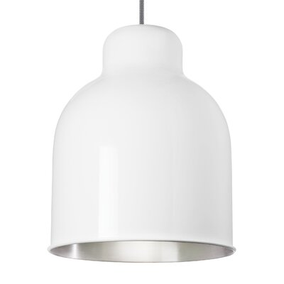 Amphora 1-Light Mini Pendant Bulb Type: Compact�Fluorescent 277V, Shade Color: Gloss�White/Brushed�Aluminum