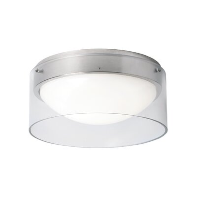 Mcculloch 1-Light Flush Mount Shade Color: Clear, Voltage: 120V