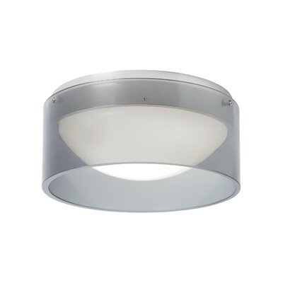 Anella 1-Light Flush Mount Voltage: 277V, Shade Color: Smoke