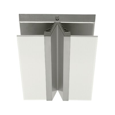 Vantra 1-Light Flush Mount Finish: Satin Nickel, Voltage: 277V