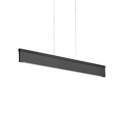 Ortex Linear 1-Light Mini Pendant Finish: Black, Bulb Type: LED 277V