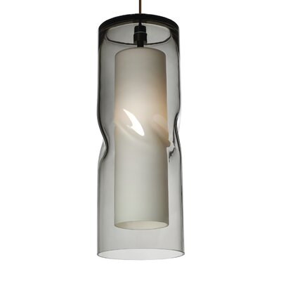 Mcculley 1-Light Mini Pendant Finish: Satin Nickel, Shade Color: Smoke, Bulb Type: Compact�Fluorescent 277V