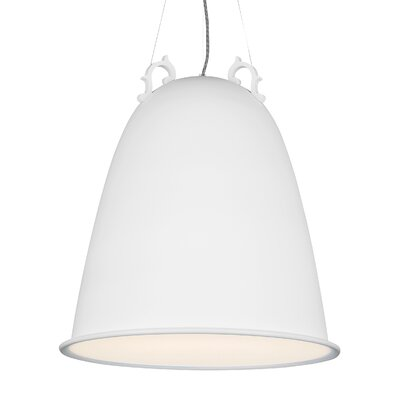 Sphere 1-Light Mini Pendant Shade Color: Frost, Finish: Rubberized White