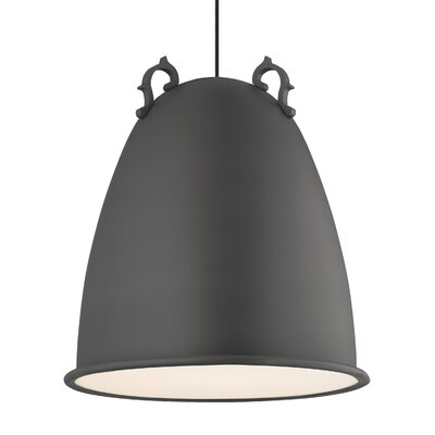 Malka 1-Light Mini Pendant Finish: Rubberized Charcoal Gray, Bulb Type: Compact�Fluorescent 277V