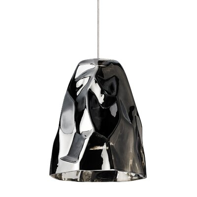 Zuri 1-Light Monorail Mini Pendant Shade Color: Black, Finish: Satin Nickel