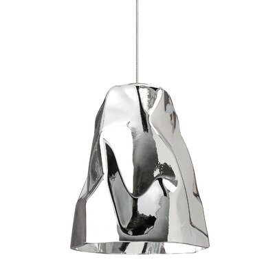 Zuri 1-Light Mono Point Mini Pendant Finish: Satin Nickel, Shade Color: Silver
