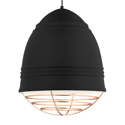 Loft Grande 3-Light Bowl Pendant Finish: Rubberized�Black/White, Shade Color: Copper, Bulb Type: LED