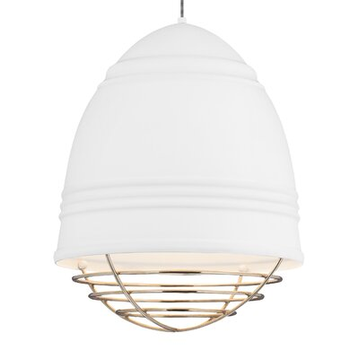 Else 3-Light Bowl Pendant Finish: Rubberized�White/White, Shade Color: Copper, Bulb Type: LED