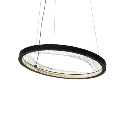 Interlace 1-Light Pendant Bulb Type: LED 277V, Finish: Satin Nickel