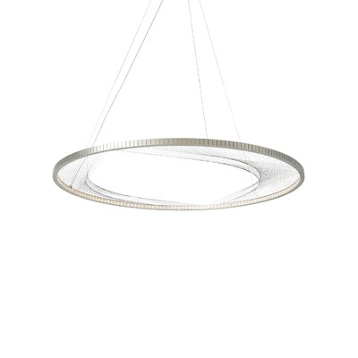Interlace 1-Light Pendant Finish: Satin Nickel, Bulb Type: LED 120V
