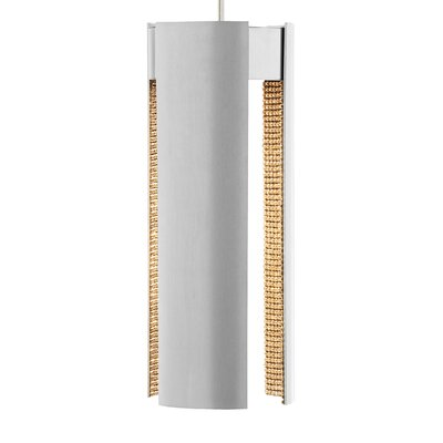 Whitely 1-Light Mini Pendant Shade Color: Satin�Nickel/Gold�Crystal, Bulb Type: LED 120V