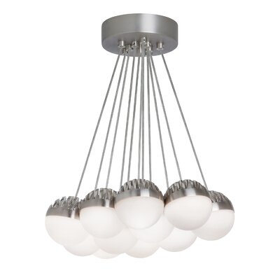 Sonntag 11-Light LED Cluster Pendant Shade Color: Frost, Bulb Color Temperature: 3000K
