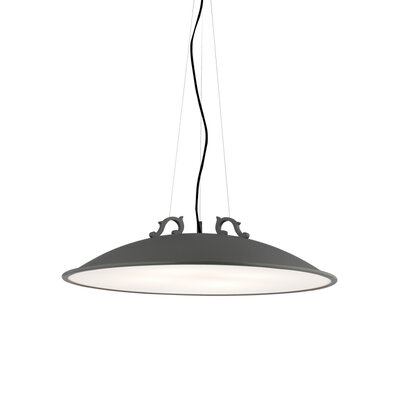 Malka 4-Light Bowl Pendant Bulb Type: Incandescent 120V, Finish: Rubberized White