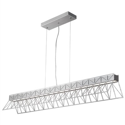 East River 1-Light Kitchen Island Pendant Finish: Brushed Aluminum Outside/Inside, Bulb Type: LED 277 V