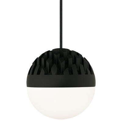 Osvaldo 1-Light Mini Pendant Finish: Rubberized Black, Shade Color: Cast Clear