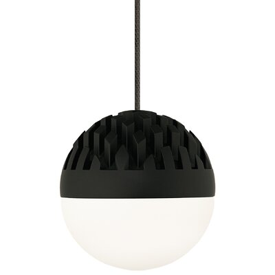 Osvaldo 1-Light Mini Pendant Finish: Rubberized Black, Shade Color: Cast Smoke