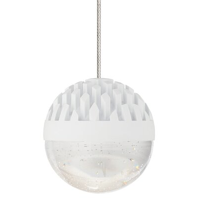 Sphere 1-Light Mini Pendant Finish: Rubberized White, Shade Color: Cast Clear