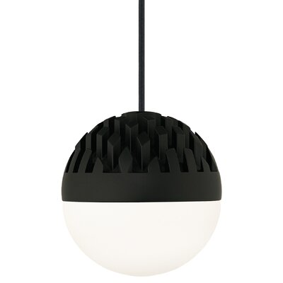 Sphere 1-Light Mini Pendant Finish: Rubberized Black, Shade Color: Cast Smoke