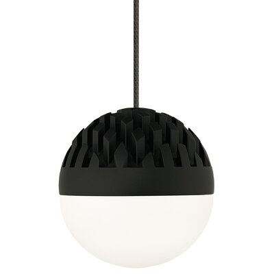 Sphere 1-Light Mini Pendant Finish: Rubberized Black, Shade Color: Frost
