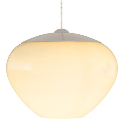 Cylia Light Pendant Shade Color: Opal, Mounting Type: Fusion Jack, Finish: Satin Nickel
