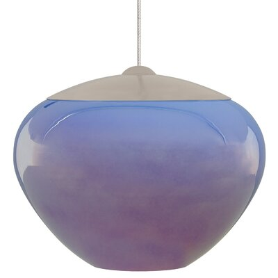 Fennell Light Pendant Shade Color: Amber, Mounting Type: Fusion Jack, Finish: Satin Nickel