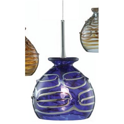 Gelato 1-Light Mini Pendant Color: Blue, Finish: Satin Nickel, Mounting Type: Pendant with Canopy/Transformer
