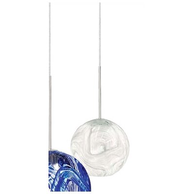 Mini Paperweight 1-Light Mini Pendant Shade Color: Opal, Finish: Satin Nickel, Mounting Type: Canopy/Transformer Pendant