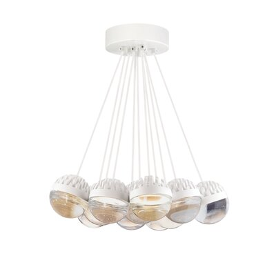 Sphere 11-Light LED Cluster Pendant Finish: Rubberized�White, Shade Color: Cast�Clear