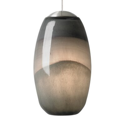Foley 1-Light Mini Pendant Finish: Satin Nickel, Shade Color: Gray/Dark�Purple