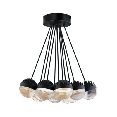 Sonntag 11-Light LED Cluster Pendant Finish: Rubberized�Black, Shade Color: Cast�Clear