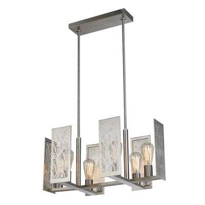 Tessa 6-Light Suspension Kitchen Island Pendant Finish: Bronze