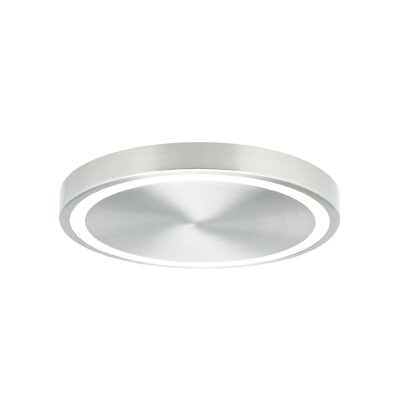 Strader 1-Light Flush Mount Finish: Satin Nickel, Voltage: 120