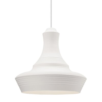 Fennell 1-Light Mini Pendant Finish: White, Size: 20 H x 22 W x 22 D