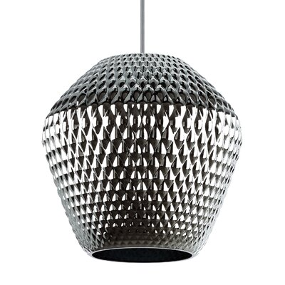 Ornata 1-Light Mini Pendant Shade Color: Champagne