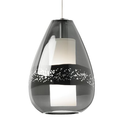 Otani 1-Light Mini Pendant Finish: Satin Nickel, Shade Color: Gray