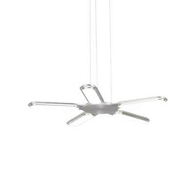 Torque 1-Light LED Mini Pendant Finish: Satin Nickel, Voltage: 277