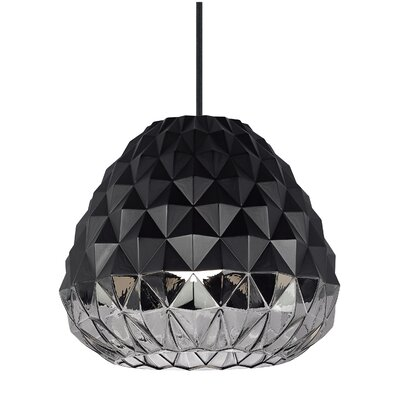 Facette 1-Light Mini Pendant Finish: Black/Smoke