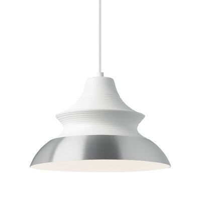 1-Light Mini Pendant Finish: Aluminum