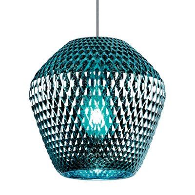 Ornata 1-Light Mini Pendant Shade Color: Aqua