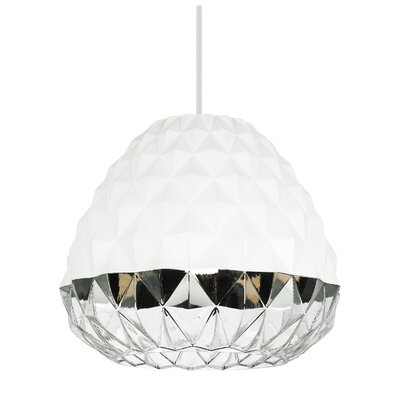 1-Light Mini Pendant Finish: White/Clear